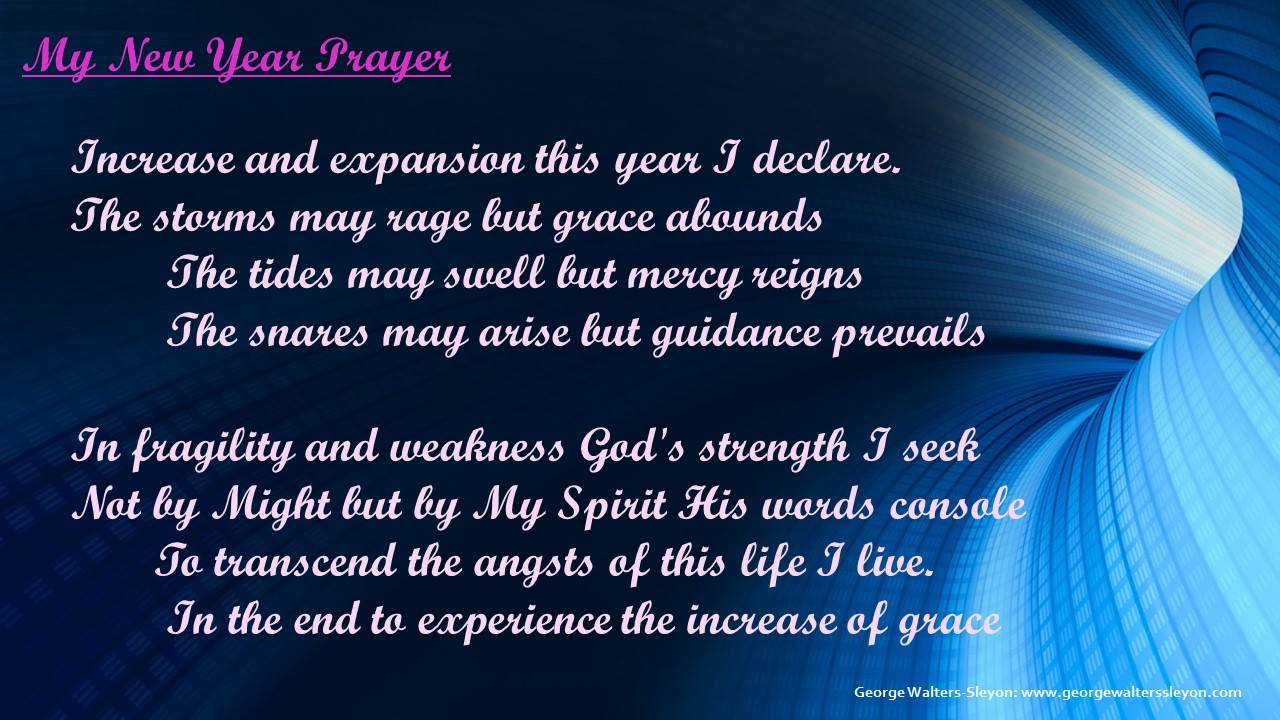 My New Year's Prayer