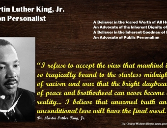 Dr King A Boston Personalist
